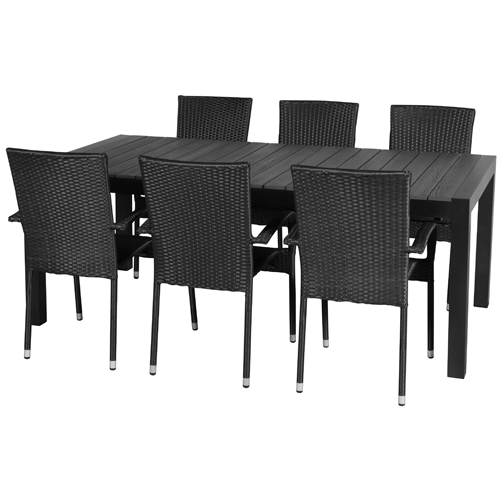 Image of   Emma XL Plus havemøbelsæt - Sort