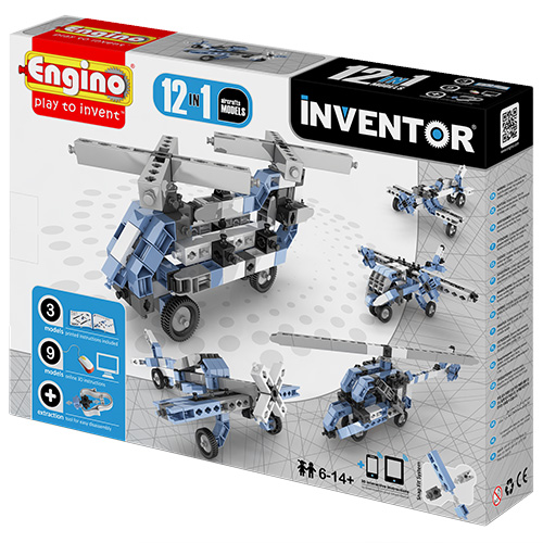 Image of   Engino 12-i-1 byggesæt - Inventor - Luftfartøjer