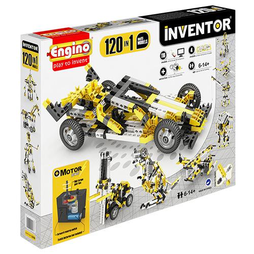 Image of   Engino 120-i-1 byggesæt med motor - Inventor