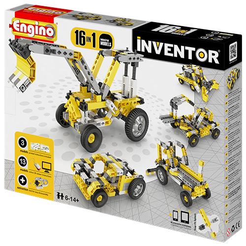 Image of   Engino 16-i-1 byggesæt - Inventor - Maskiner