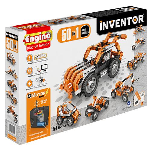 Image of   Engino 50-i-1 byggesæt med motor - Inventor