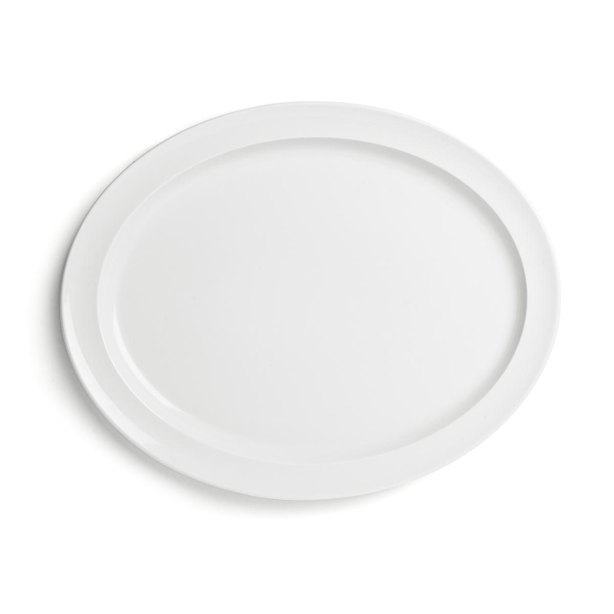 Billede af Enkel serveringsfad - Hvidpot - L 39 x B 29 cm