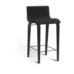 Erik Bagger barstol - Curves Counter - H 67 cm - Sort/mørkegrå
