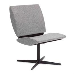 Erik Bagger loungestol - City Chair Two - Sort/lysegrå