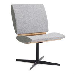 Erik Bagger loungestol - City Chair Two - Sort/natur/lysegrå