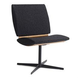 Erik Bagger loungestol - City Chair Two - Sort/natur/mørkegrå