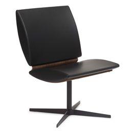 Erik Bagger loungestol - City Chair Two - Sort/natur