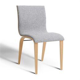 Image of   Erik Bagger stol - Copenhagen Chair Two - Natur/lysegrå