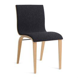 Image of   Erik Bagger stol - Copenhagen Chair Two - Natur/mørkegrå