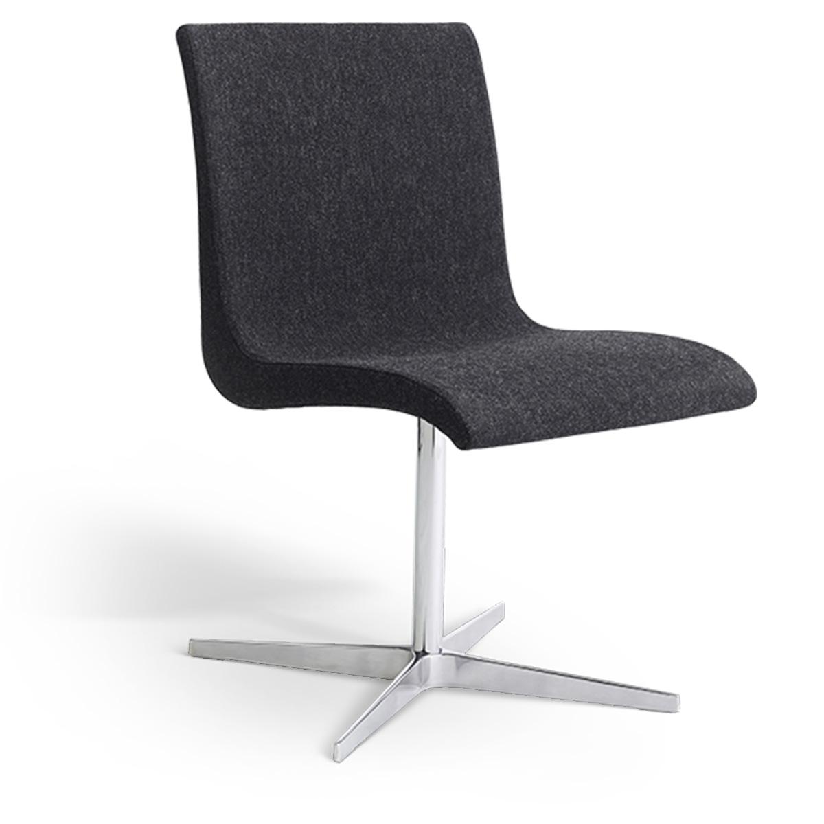Erik Bagger stol - Curves Chair Two - Krom/mørkegrå