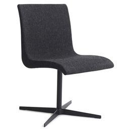 Image of   Erik Bagger stol - Curves Chair Two - Sort/mørkegrå