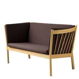 Erik Ole Jørgensen 2 pers. sofa - J148 - Eg/brun