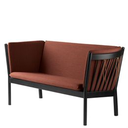 Erik Ole Jørgensen 2 pers. sofa - J148 - Sort eg/brændt orange