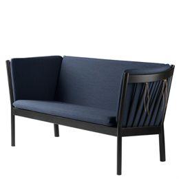 Erik Ole Jørgensen 2 pers. sofa - J148 - Sort eg/mørkeblå