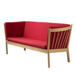 Erik Ole Jørgensen 3 pers. sofa - J149 - Eg/rød