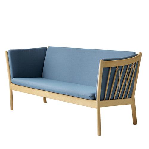 Image of   Erik Ole Jørgensen 3 pers. sofa - J149 - Eg/støvet blå