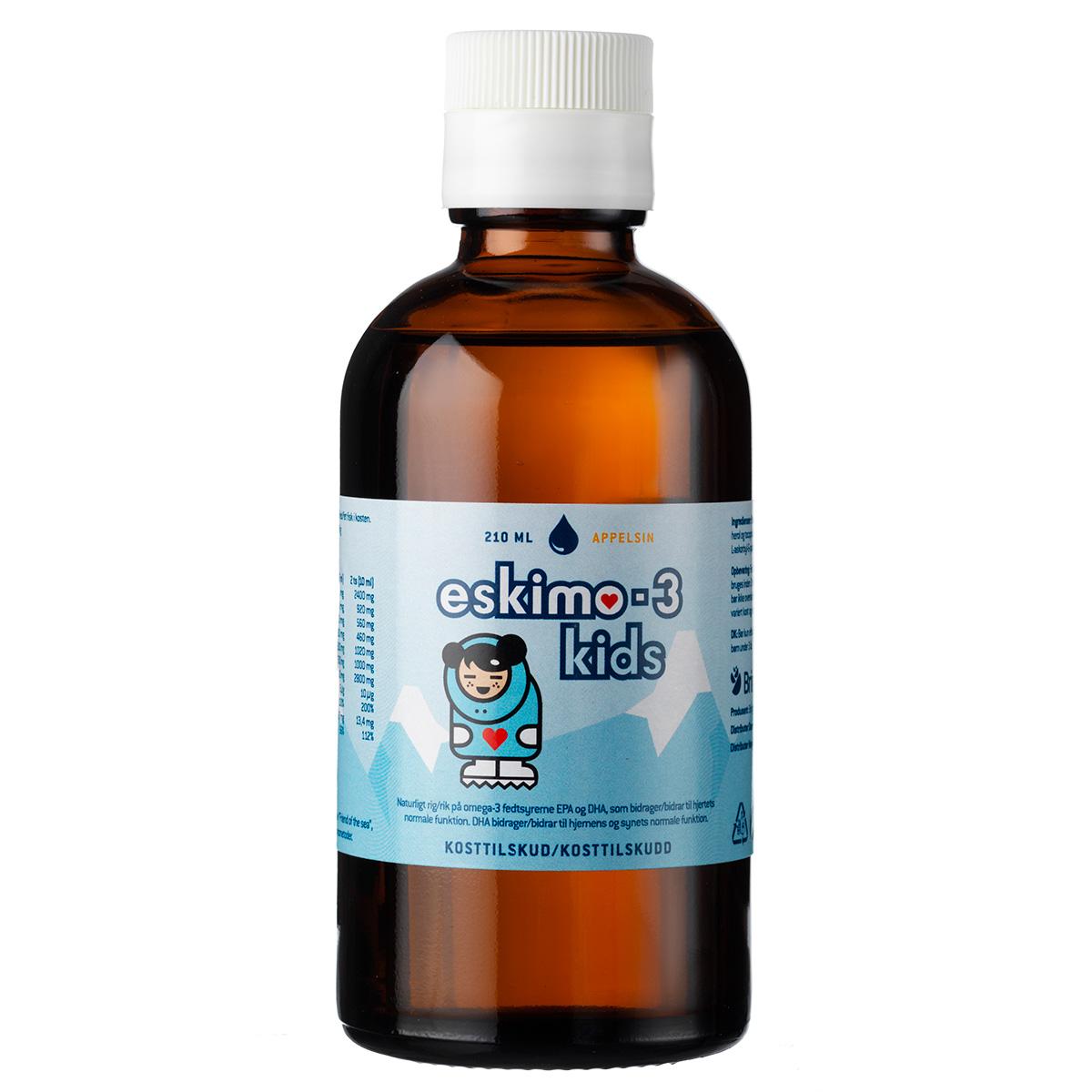 Image of   Eskimo-3 Kids med appelsinsmag - 210 ml