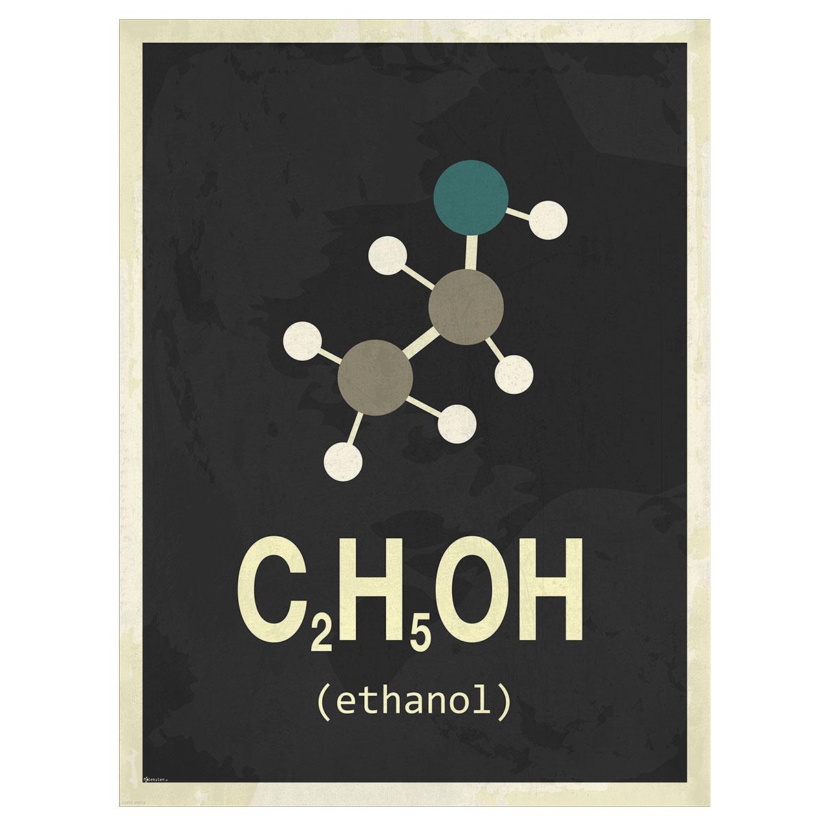 Ethanol plakat - Molekylen.dk