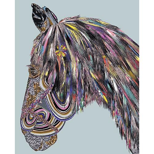 Image of   Eurotrash Horse plakat - af Anne-Sofie Holm