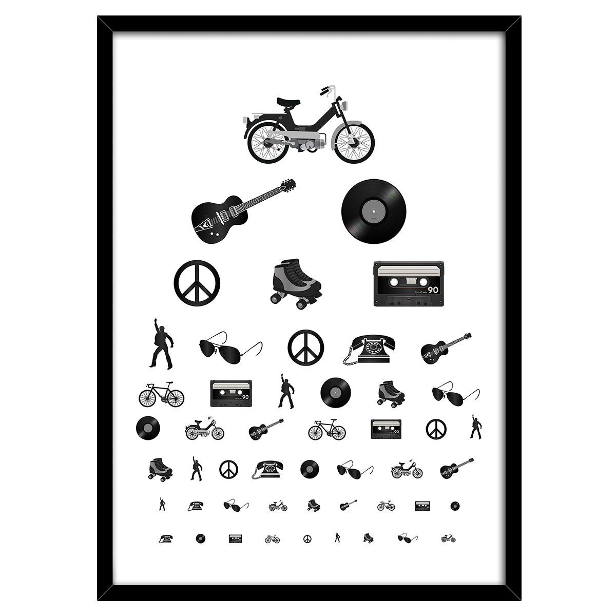 Image of   Eyetest plakat i ramme