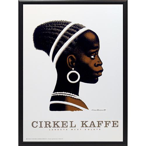 Image of   FDB Cirkelpigen plakat i ramme - af Aage Sikker Hansen