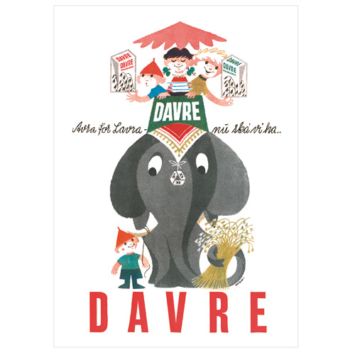 Image of   FDB Davre-Gryn elefant plakat - 150 års jubilæumsudgave