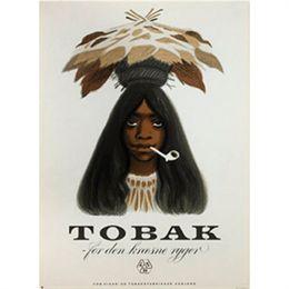 Image of   FDB Tobakspigen plakat - af Aage Sikker Hansen