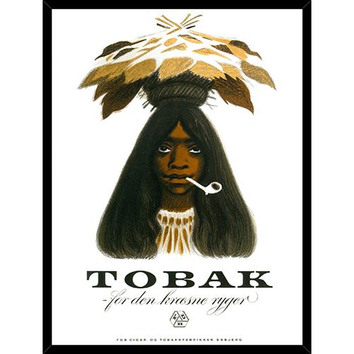 Image of   FDB Tobakspigen plakat i ramme - af Aage Sikker Hansen