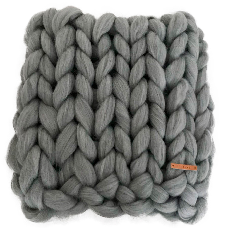 Image of   Fillows babytæppe - Chunky Junior - Light stone grey