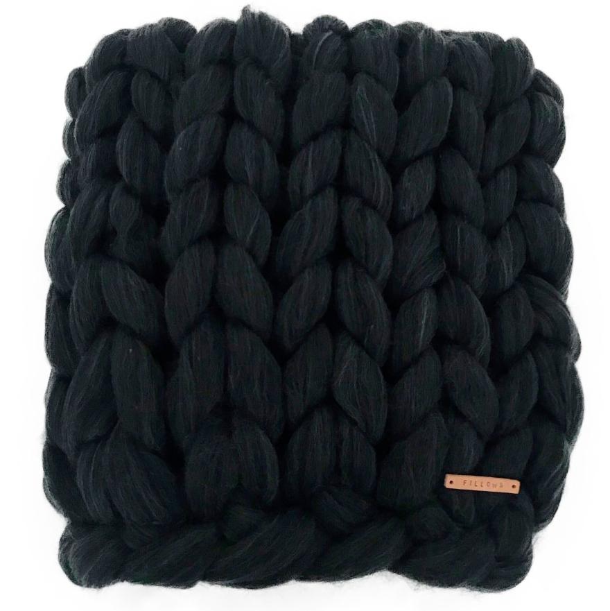 Image of   Fillows tæppe - Chunky Medium - Dark grey
