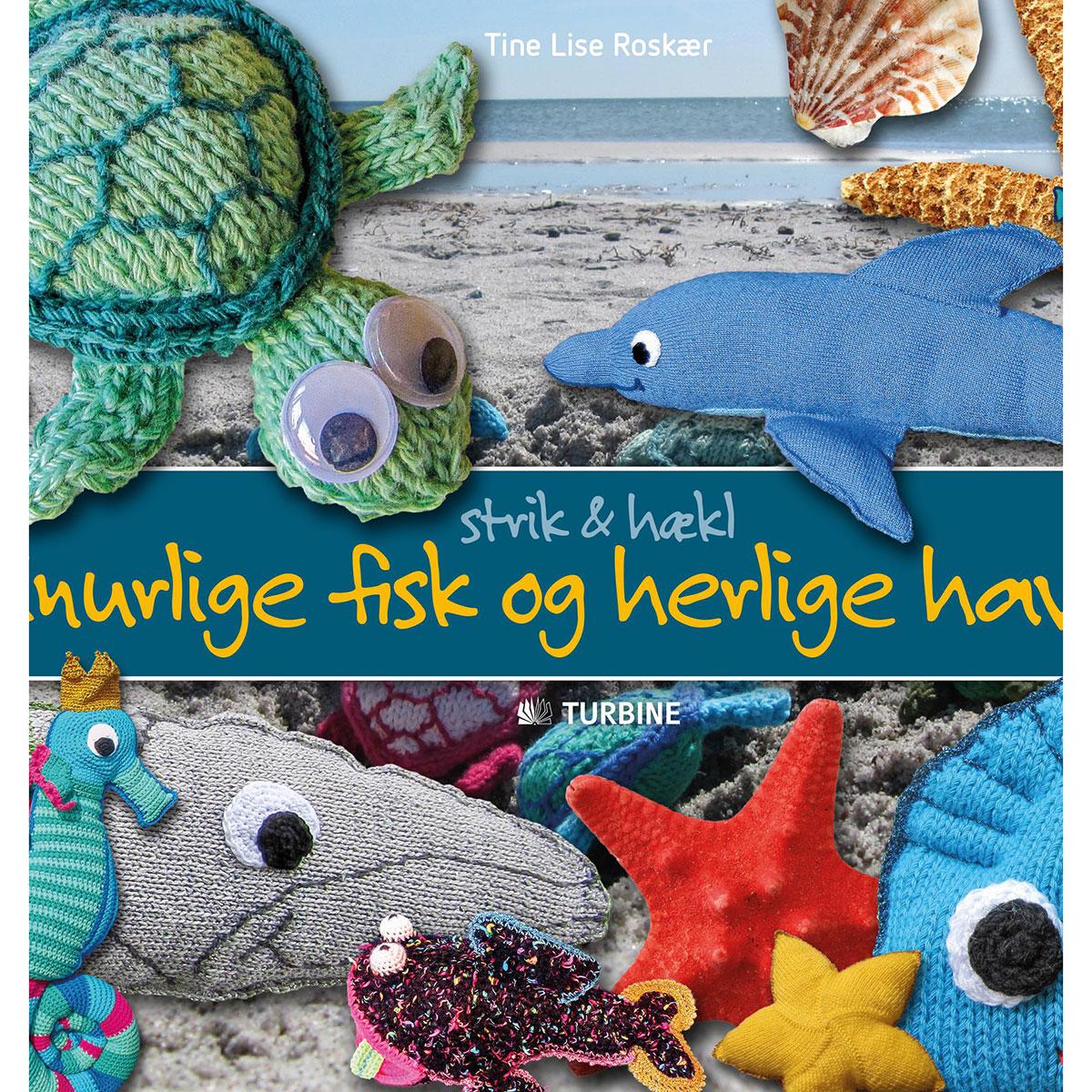 Image of   Finurlige fisk og herlige havdyr - Strik og hækl - Hæftet