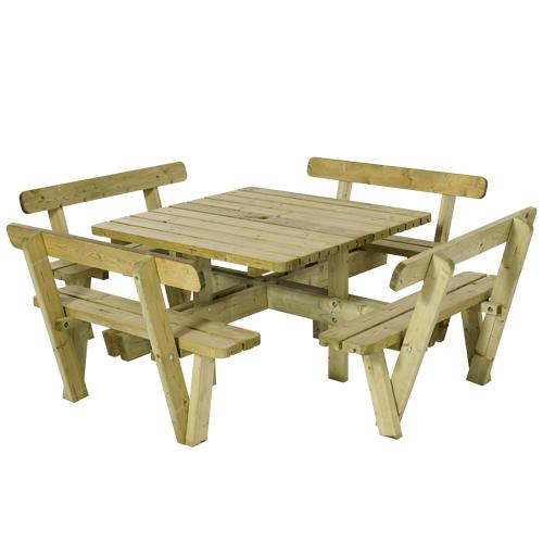 Image of   Firkantet bord- og bænkesæt