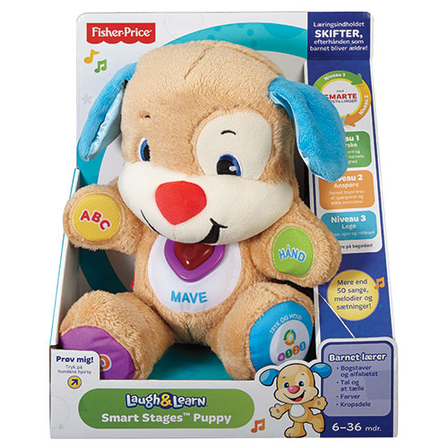 Image of   Fisher-Price aktivitetsbamse - Smart Stages Puppy - Lyseblå
