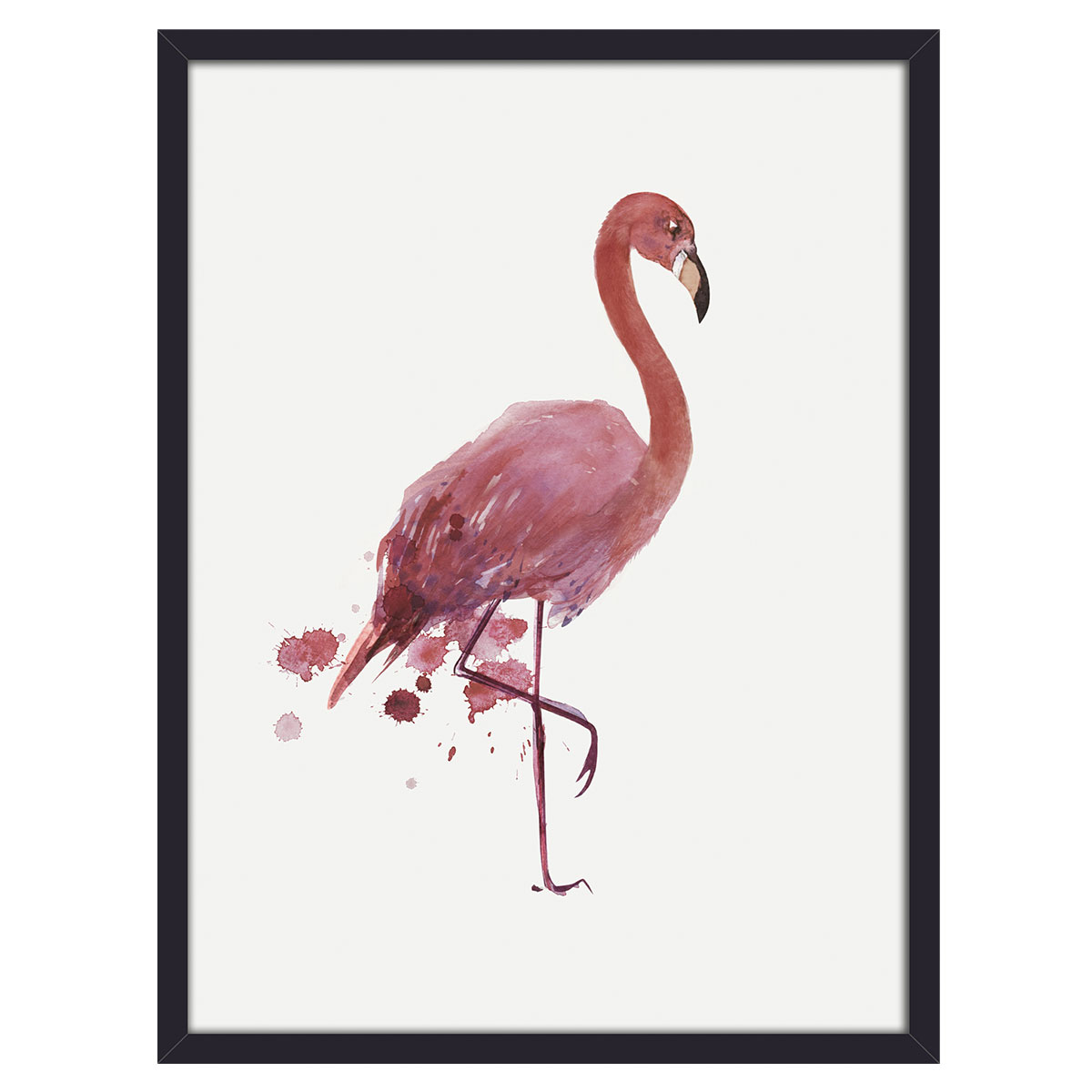 Image of   Flamingo plakat i ramme
