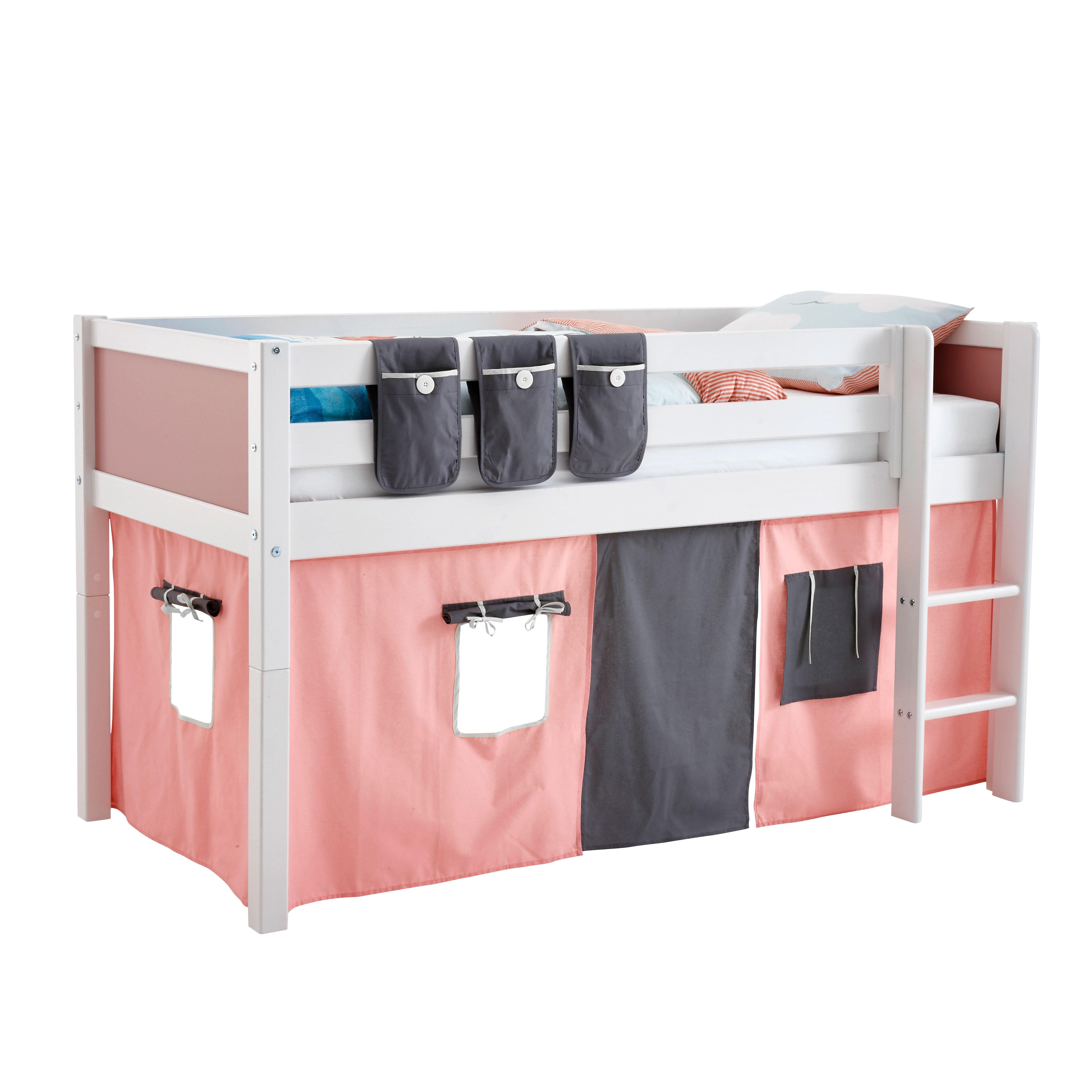 Billede af Flexa Basic legeforhæng til halvhøj seng - Pink