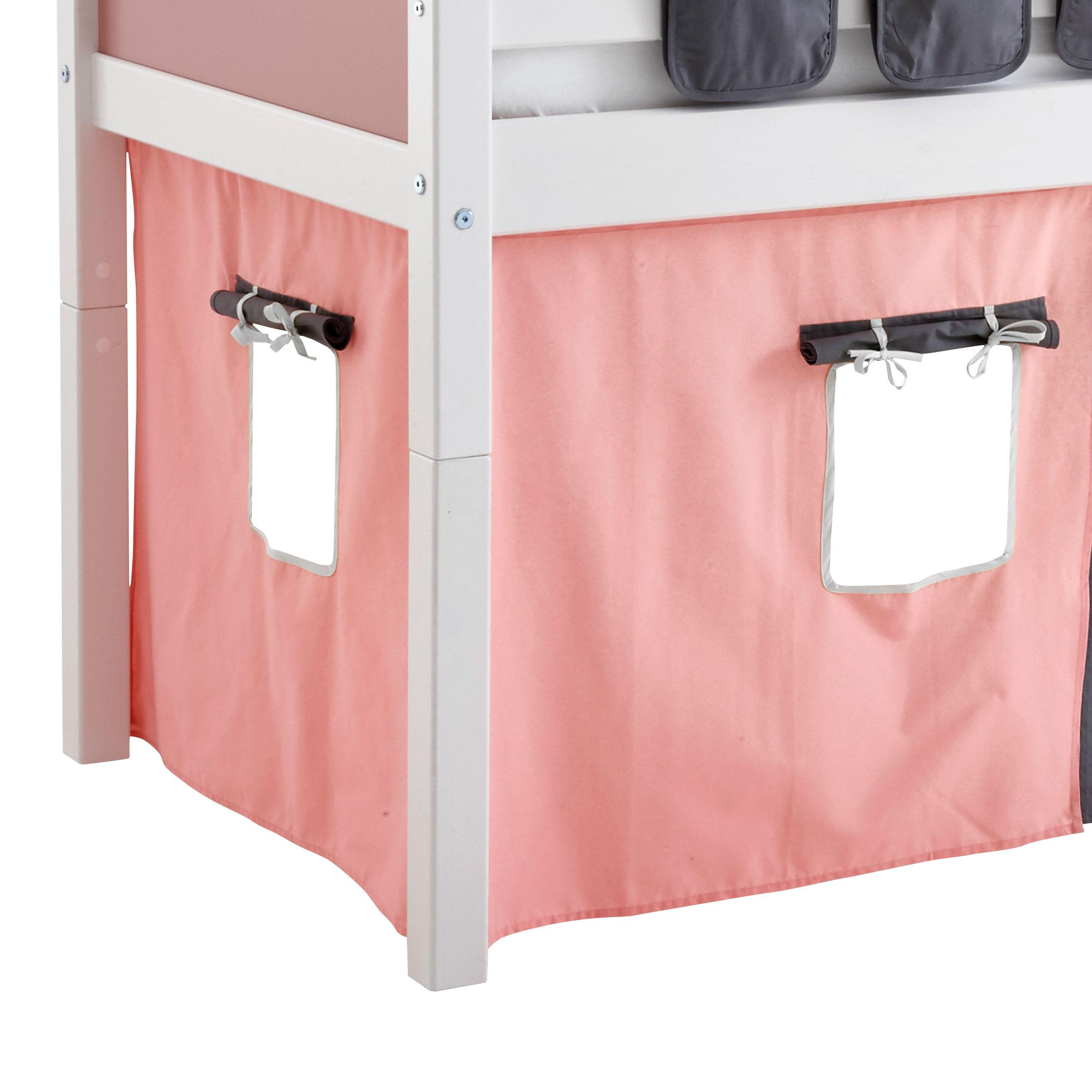 Flexa Basic legeforhæng til halvhøj seng - Pink Til hyggelig hule ...