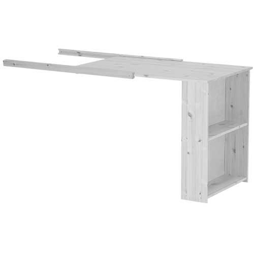 Billede af Flexa Basic udtræksskrivebord - Trendy - Hvidpigmenteret