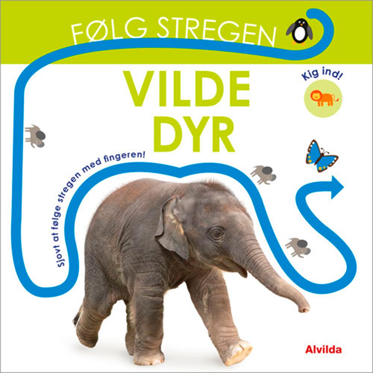 Image of   Følg stregen - Vilde dyr - Papbog