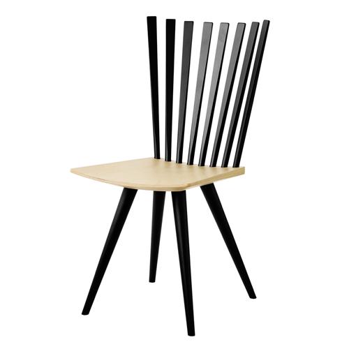 Billede af Foersom & Hiort-Lorenzen stol - Mikado J152 - Sort/natur