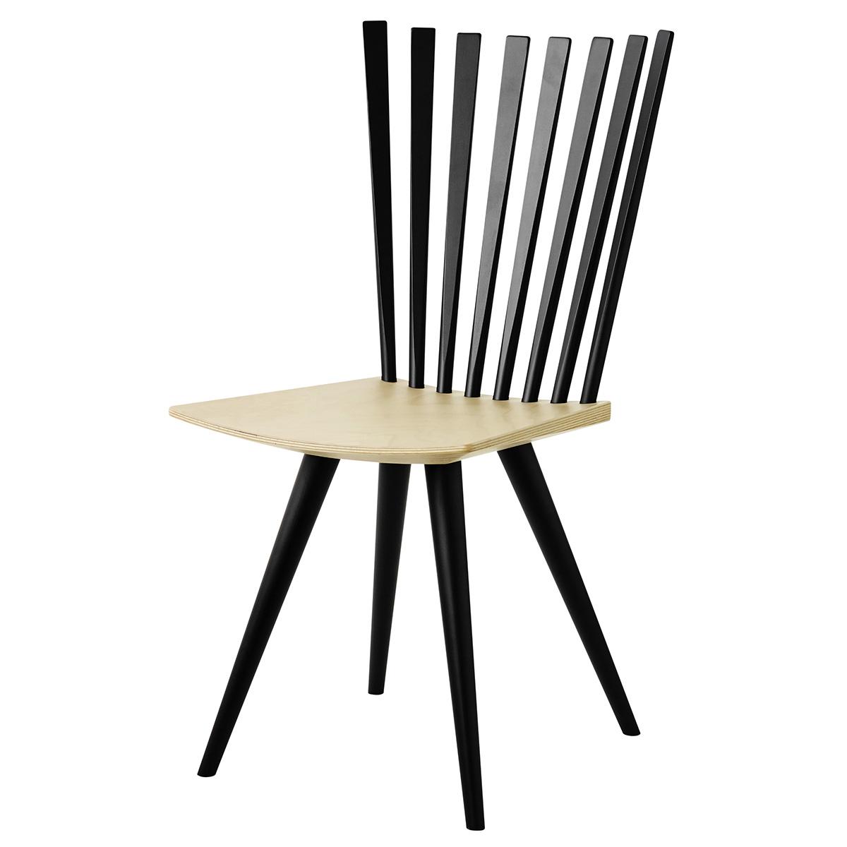 Image of   Foersom & Hiort-Lorenzen stol - Mikado J152 - Sort/natur