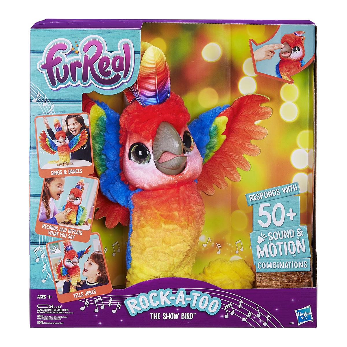 Image of   FurReal interaktiv papegøje - Rock-a-too The Show Bird