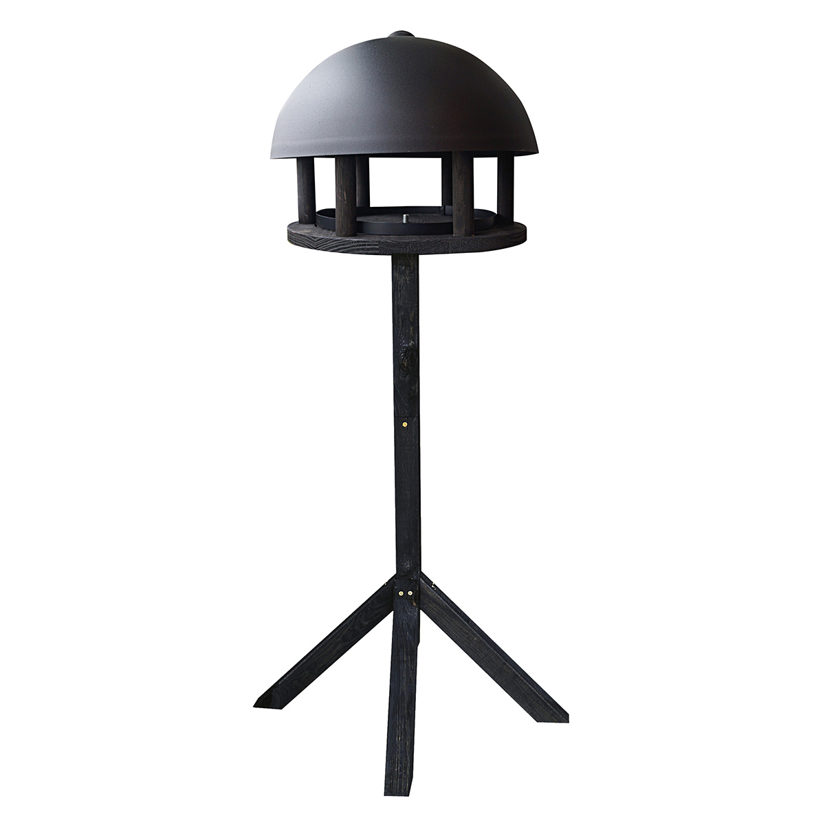 Image of   GardenLife fuglehus inkl. stander - Dome Black Wood