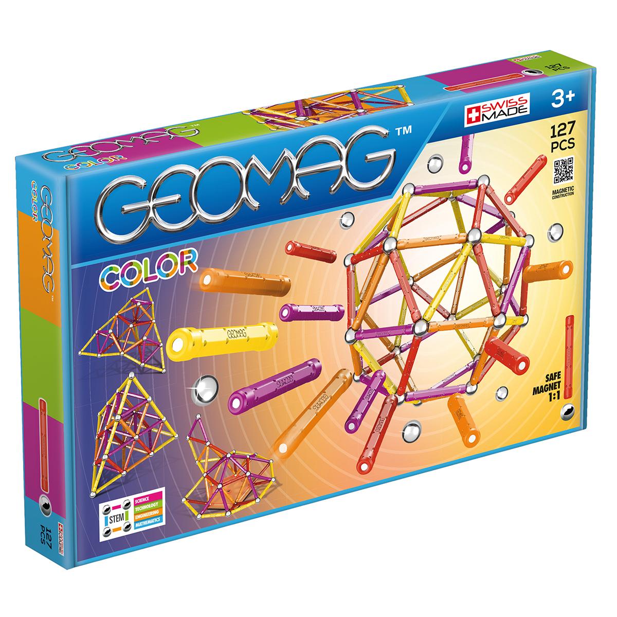 Image of   Geomag byggesæt - Color - 127 dele