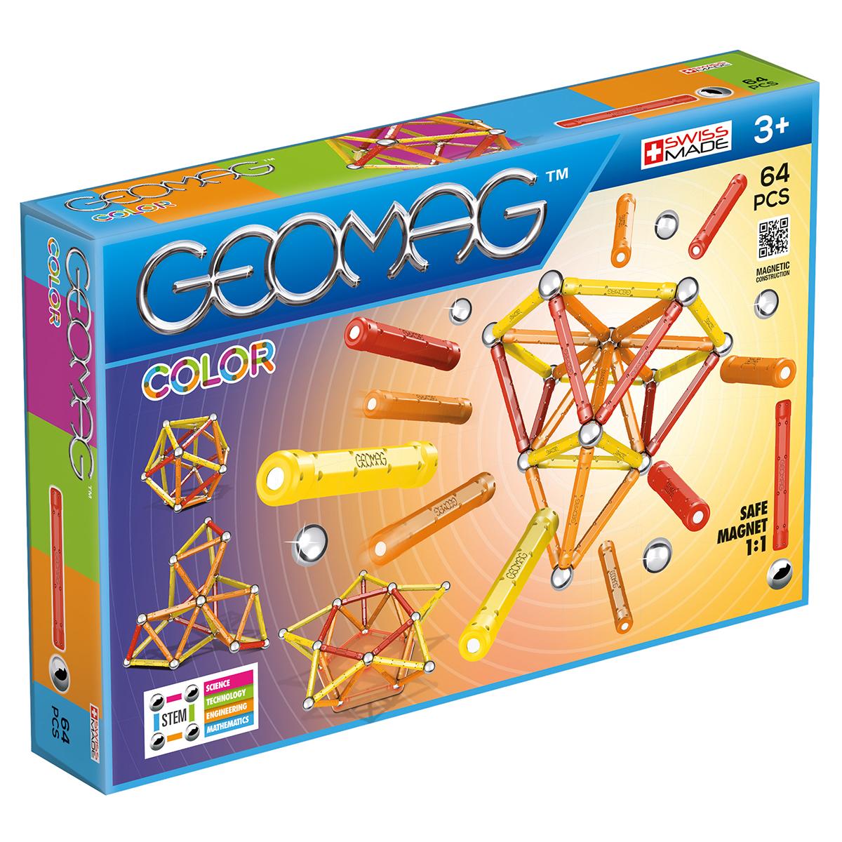 Image of   Geomag byggesæt - Color - 64 dele