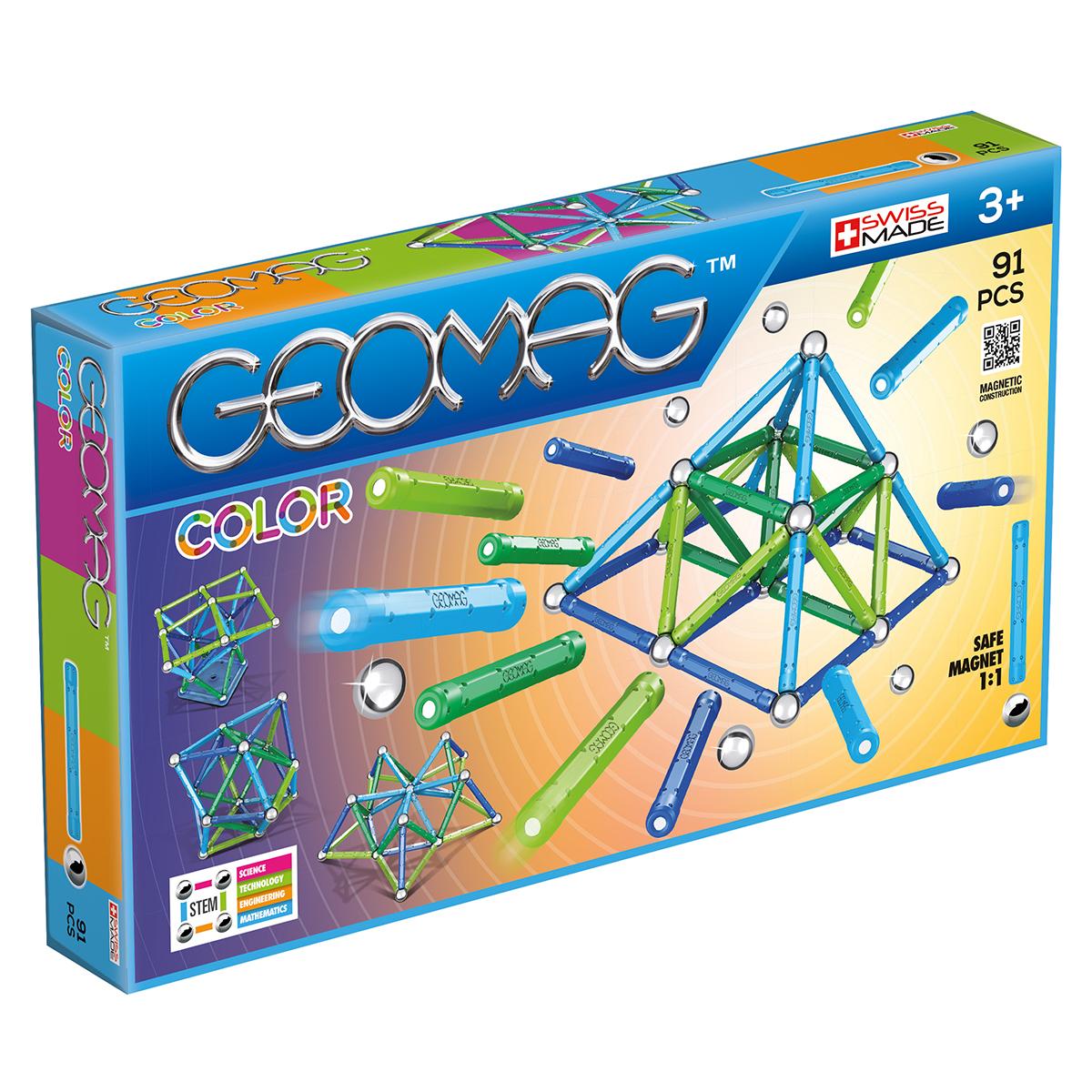 Image of   Geomag byggesæt - Color - 91 dele