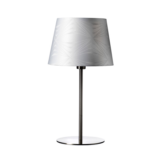 Image of   Georg Jensen Damask bordlampe - Krystal - Hvid