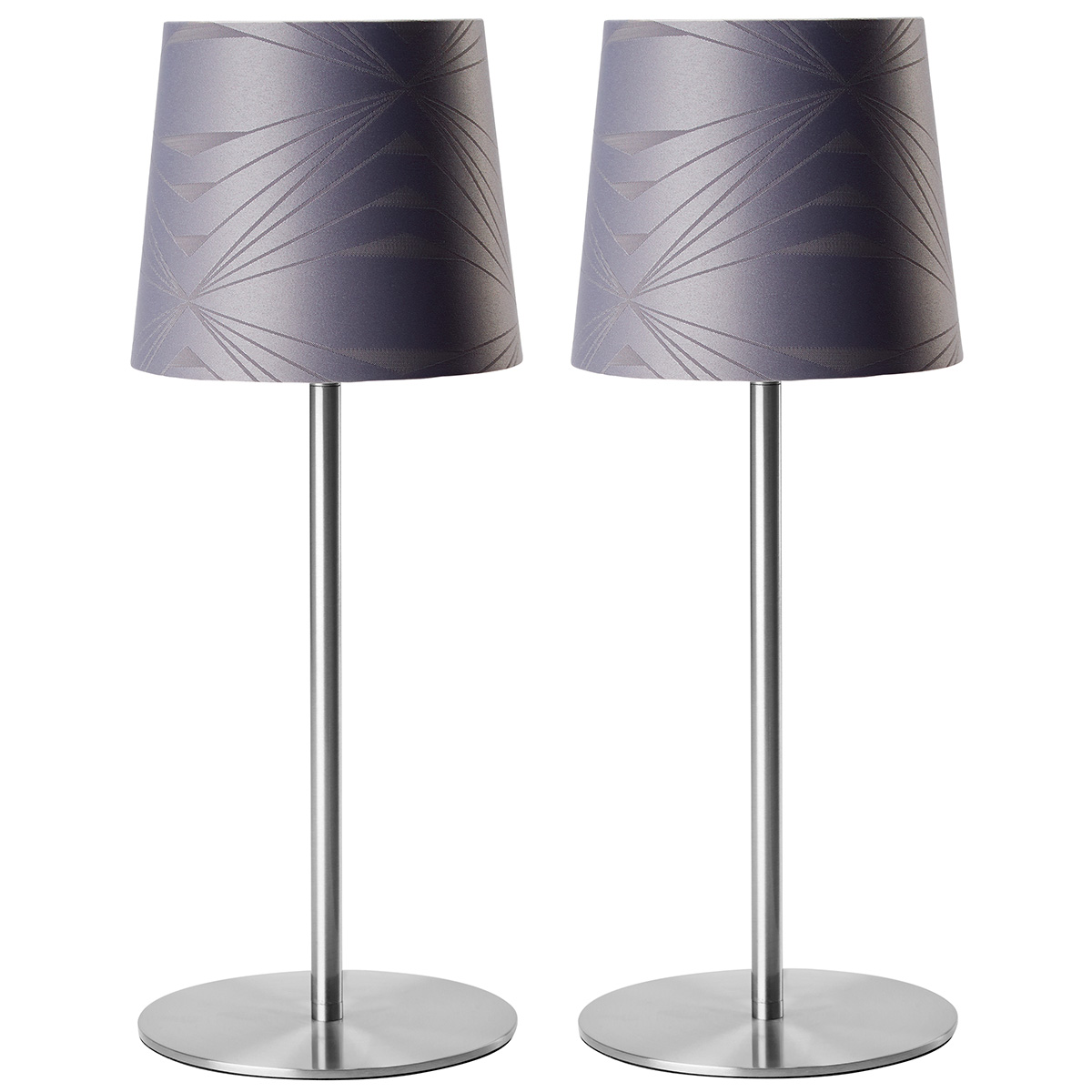 Image of   Georg Jensen Damask bordlamper - Krystal - Grå