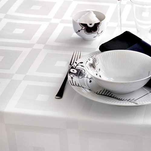 Georg Jensen Damask dug - Royal Square - Hvid