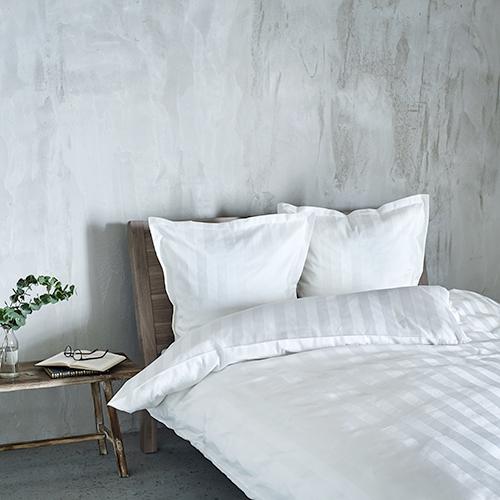 Georg Jensen Damask sengetøj - Vertical - Hvid