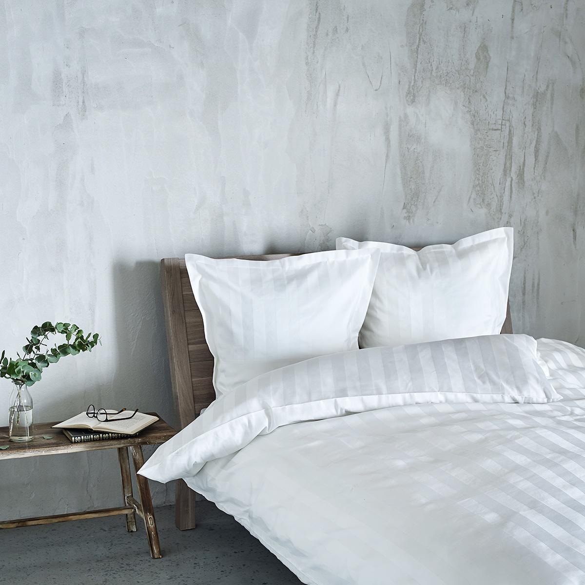 Image of   Georg Jensen Damask sengetøj - Vertical - Hvid